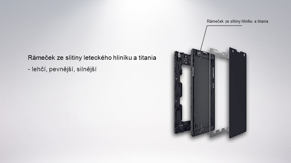 Rámeček ze slitiny leteckého hliníku a titania - lehčí, pevnější, silnější Rámeček ze slitiny hliníku a titania