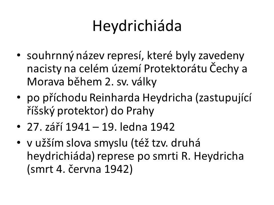 Heydrichiáda souhrnný název represí, které byly zavedeny nacisty na celém území Protektorátu Čechy a Morava během 2.