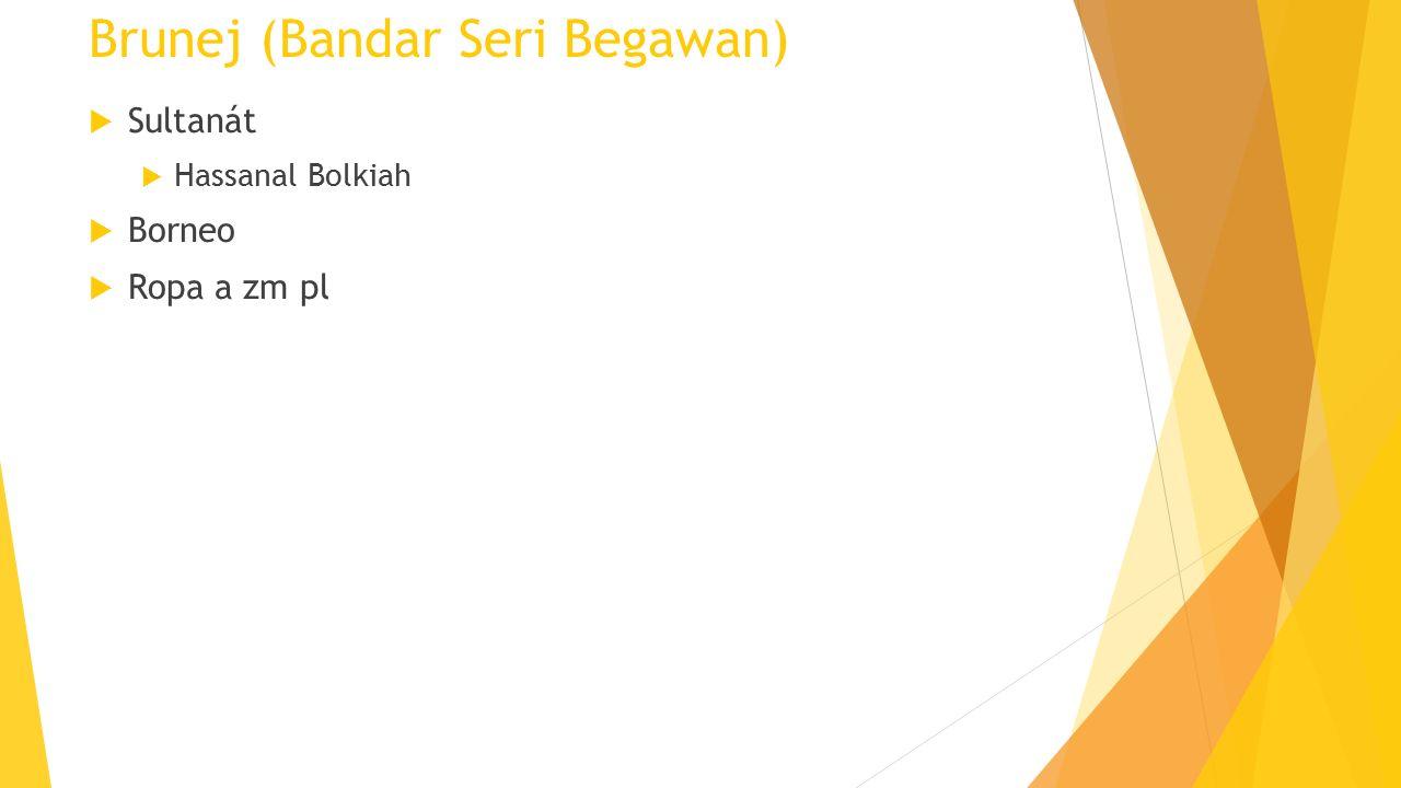 Brunej (Bandar Seri Begawan)  Sultanát  Hassanal Bolkiah  Borneo  Ropa a zm pl