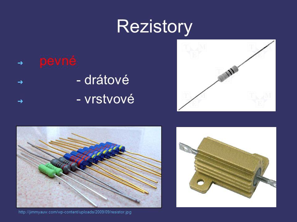 Rezistory ➔ proměnné - potenciometry - trimry