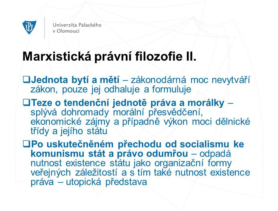 Marxistická právní filozofie II.