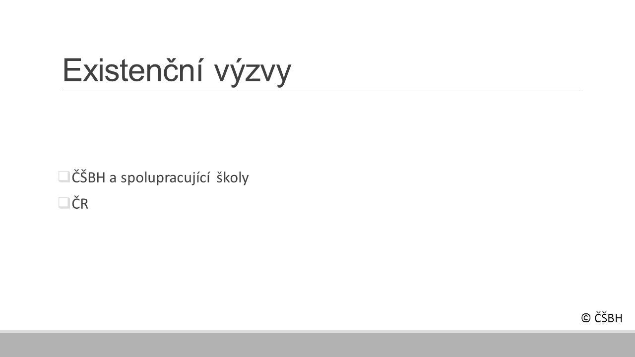 Existenční výzvy  ČŠBH a spolupracující školy  ČR © ČŠBH