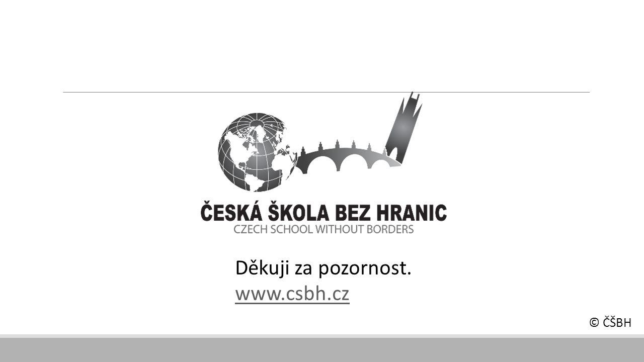 Děkuji za pozornost. www.csbh.cz © ČŠBH