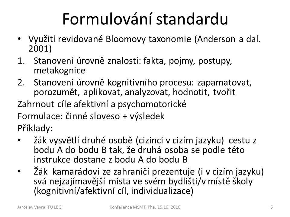Rozdíly v jazyku Standardů mezi 1.vydáním (1994) a návrhem 2.