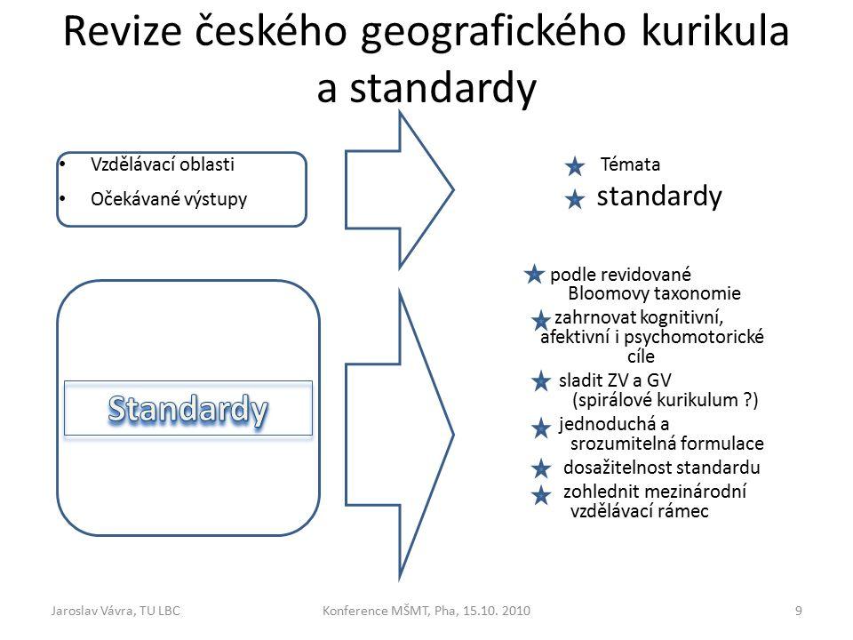 Revize českého geografického kurikula a standardy Konference MŠMT, Pha, 15.10.