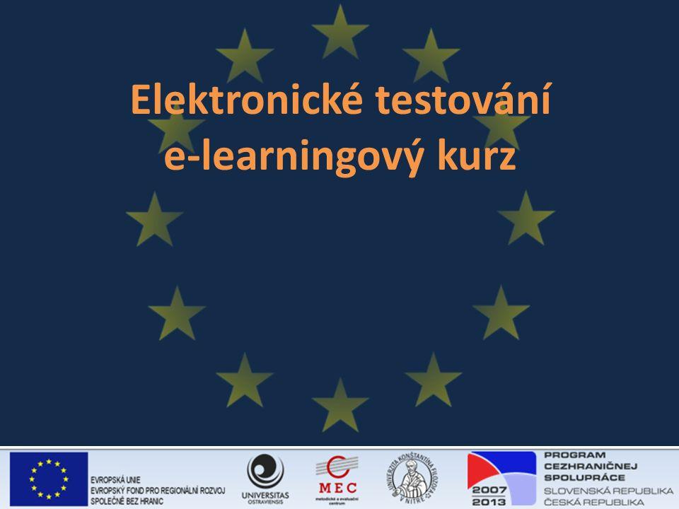 Elektronické testování e-learningový kurz