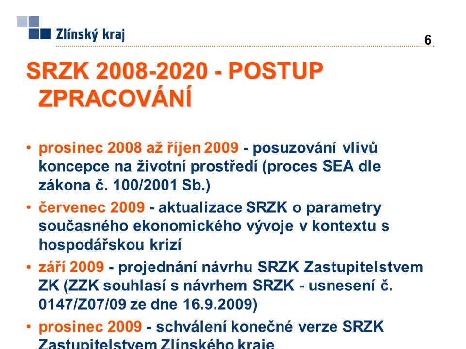 27 SRZK 2009-2020 - CÍLE A ÚKOLY 3. EFEKTIVNÍ INFRASTRUKTURA A ROZVOJ VENKOVA