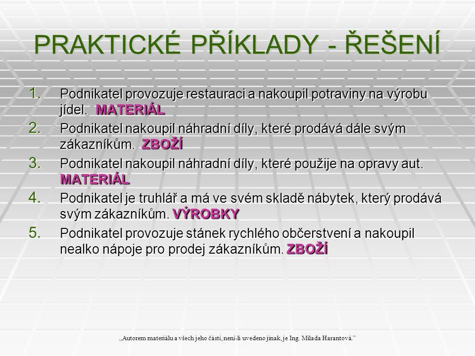 PRAKTICKÉ PŘÍKLADY - ŘEŠENÍ 1.