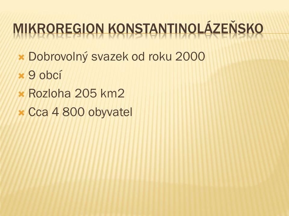  Dobrovolný svazek od roku 2000  9 obcí  Rozloha 205 km2  Cca 4 800 obyvatel