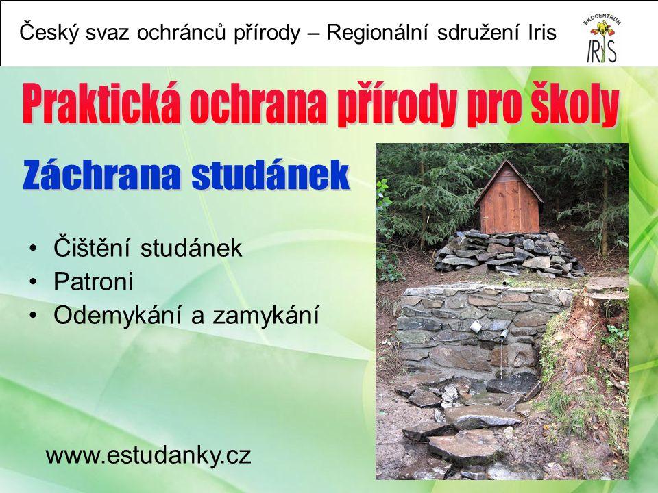 www.estudanky.cz Čištění studánek Patroni Odemykání a zamykání