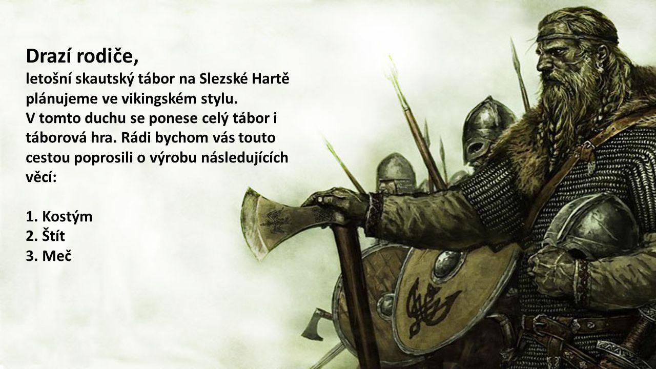 Drazí rodiče, letošní skautský tábor na Slezské Hartě plánujeme ve vikingském stylu.
