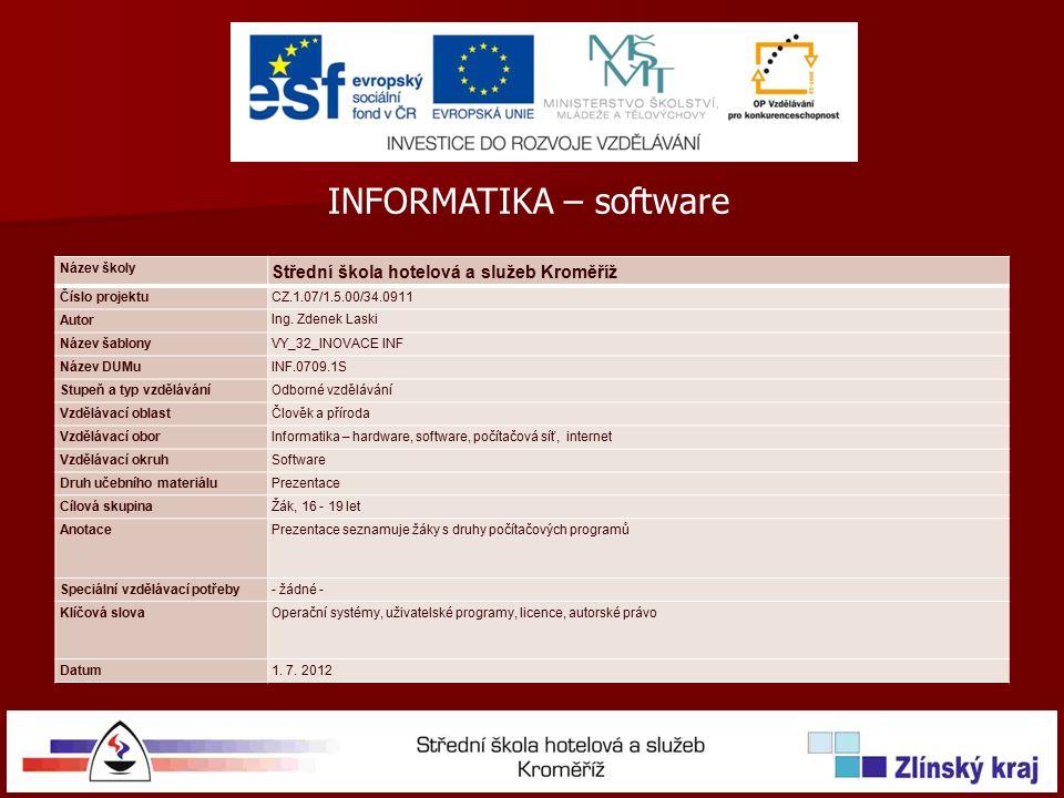 OPERAČNÍ SYSTÉM - AROS Program je málo používaný SOFTWARE Obrázky obrazovek byly pořízeny s oprávněním od společnosti Aros