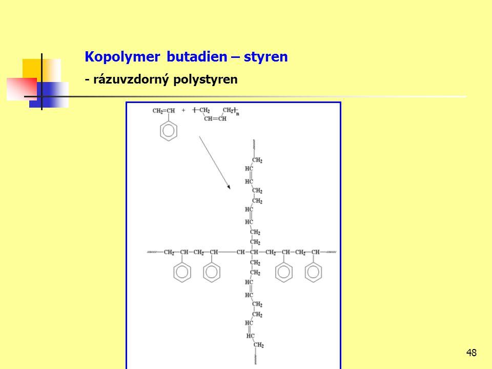 48 Kopolymer butadien – styren - rázuvzdorný polystyren