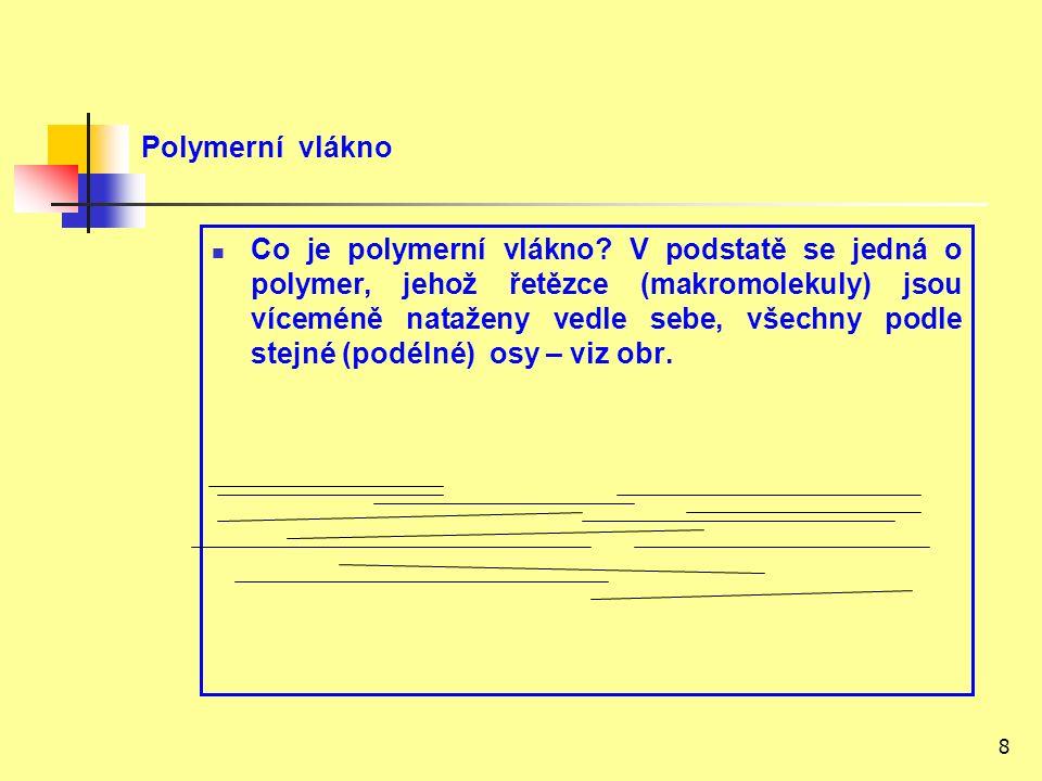 8 Polymerní vlákno Co je polymerní vlákno.