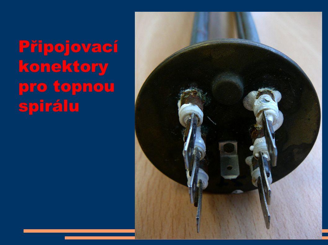 Připojovací konektory pro topnou spirálu