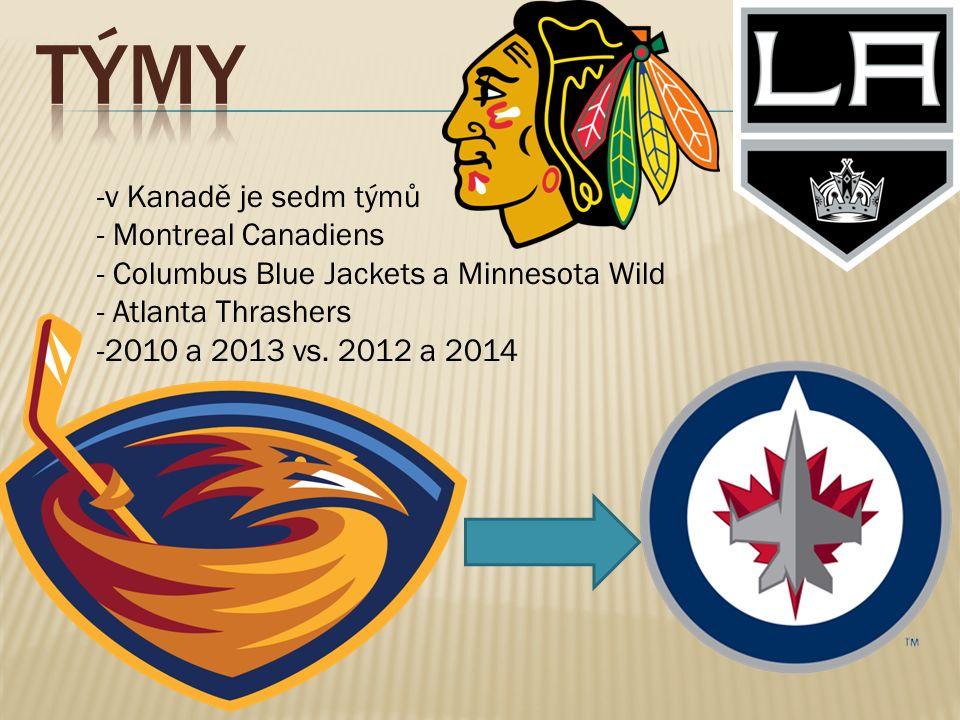 -v Kanadě je sedm týmů - Montreal Canadiens - Columbus Blue Jackets a Minnesota Wild - Atlanta Thrashers -2010 a 2013 vs.