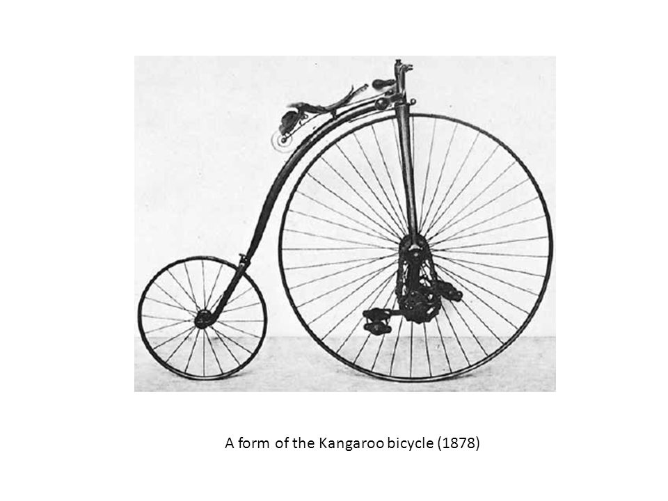 A form of the Kangaroo bicycle (1878)