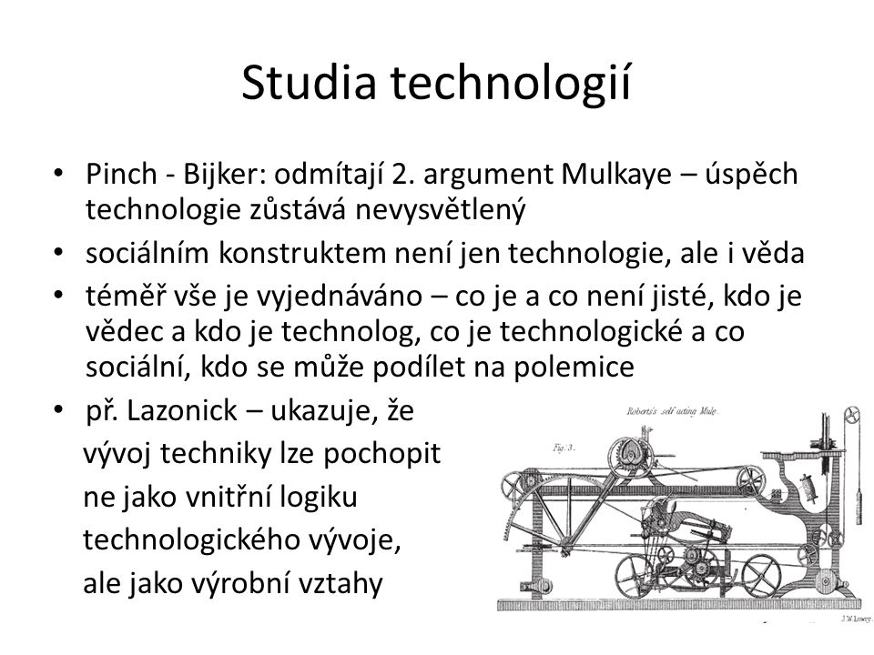 Studia technologií Pinch - Bijker: odmítají 2.