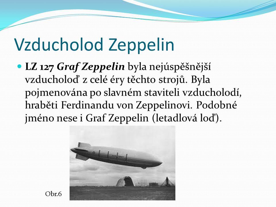 Vzducholod Zeppelin LZ 127 Graf Zeppelin byla nejúspěšnější vzducholoď z celé éry těchto strojů. Byla pojmenována po slavném staviteli vzducholodí, hr