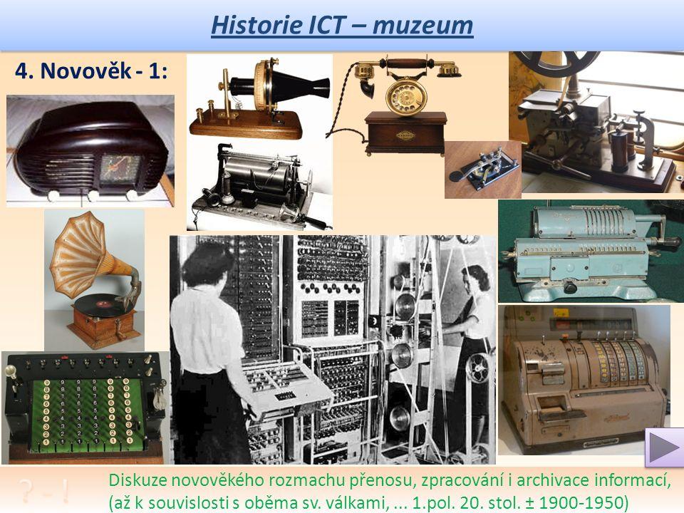 Historie ICT – muzeum Diskuze na téma úpadku společnosti ve středověku, války, doba temna, … 3.