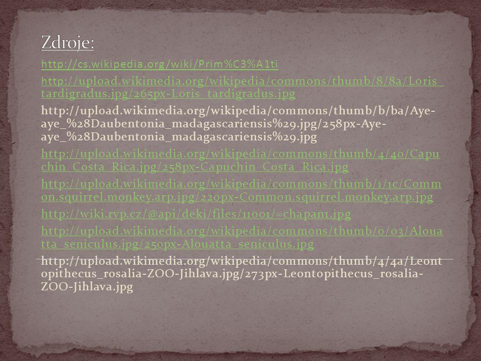 http://cs.wikipedia.org/wiki/Prim%C3%A1ti http://upload.wikimedia.org/wikipedia/commons/thumb/8/8a/Loris_ tardigradus.jpg/265px-Loris_tardigradus.jpg