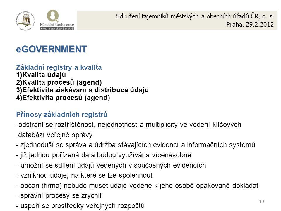 13 Sdružení tajemníků městských a obecních úřadů ČR, o.
