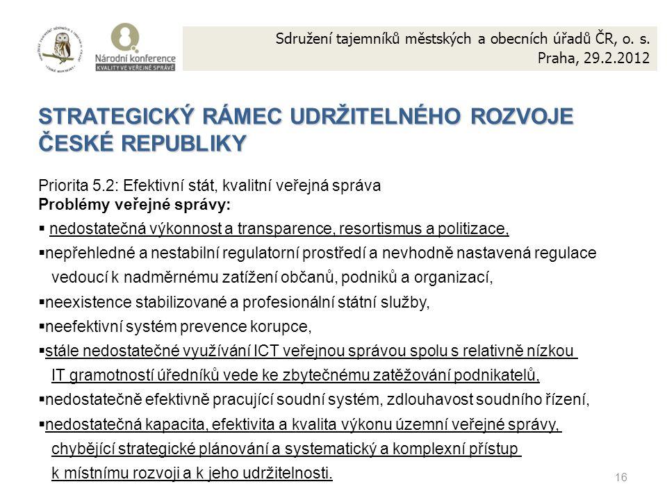 16 Sdružení tajemníků městských a obecních úřadů ČR, o.