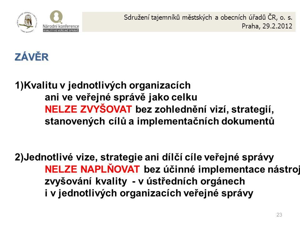 23 Sdružení tajemníků městských a obecních úřadů ČR, o.