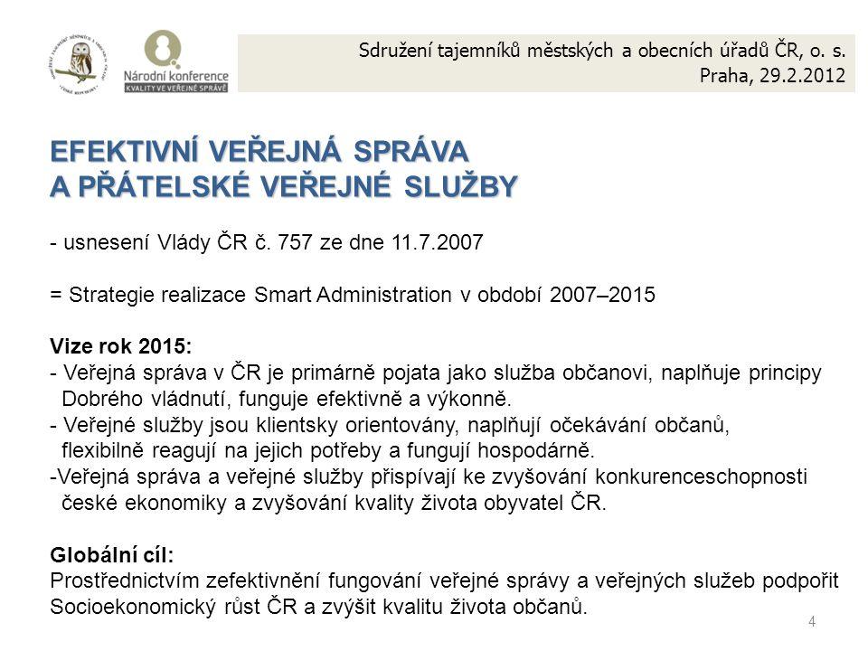 4 Sdružení tajemníků městských a obecních úřadů ČR, o.