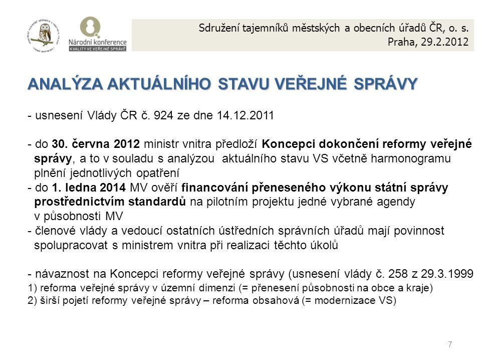 7 Sdružení tajemníků městských a obecních úřadů ČR, o.