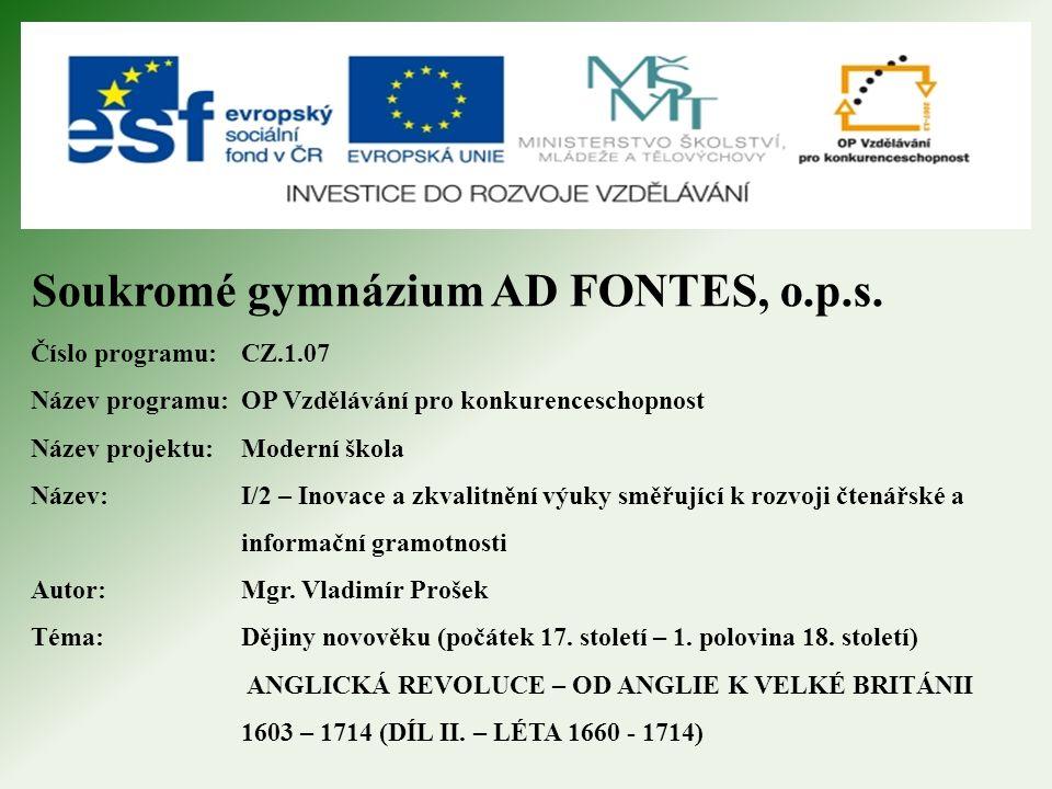 Soukromé gymnázium AD FONTES, o.p.s.