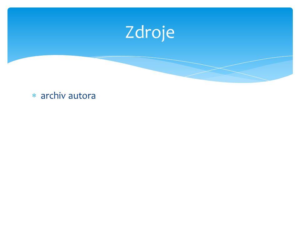  archiv autora Zdroje