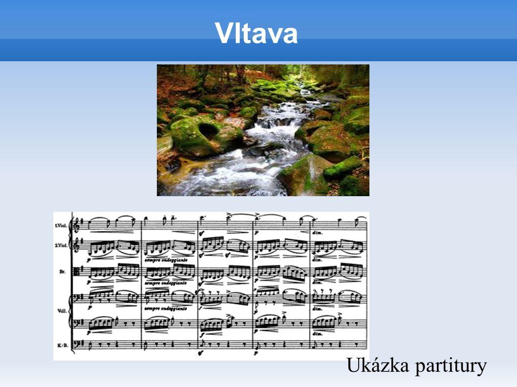Vltava Ukázka partitury