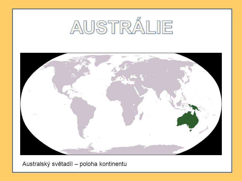 Australský světadíl – poloha kontinentu
