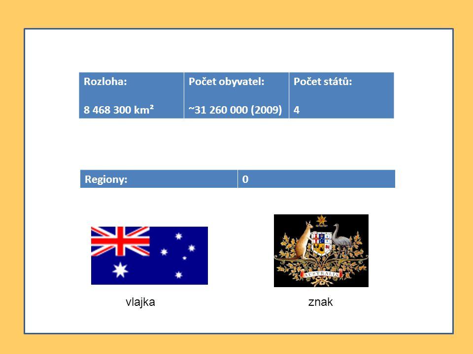 Regiony:0 Rozloha: 8 468 300 km² Počet obyvatel: ~31 260 000 (2009) Počet států: 4 vlajkaznak