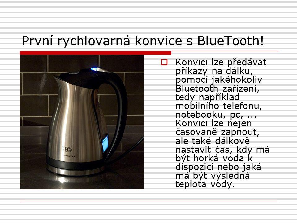 První rychlovarná konvice s BlueTooth.
