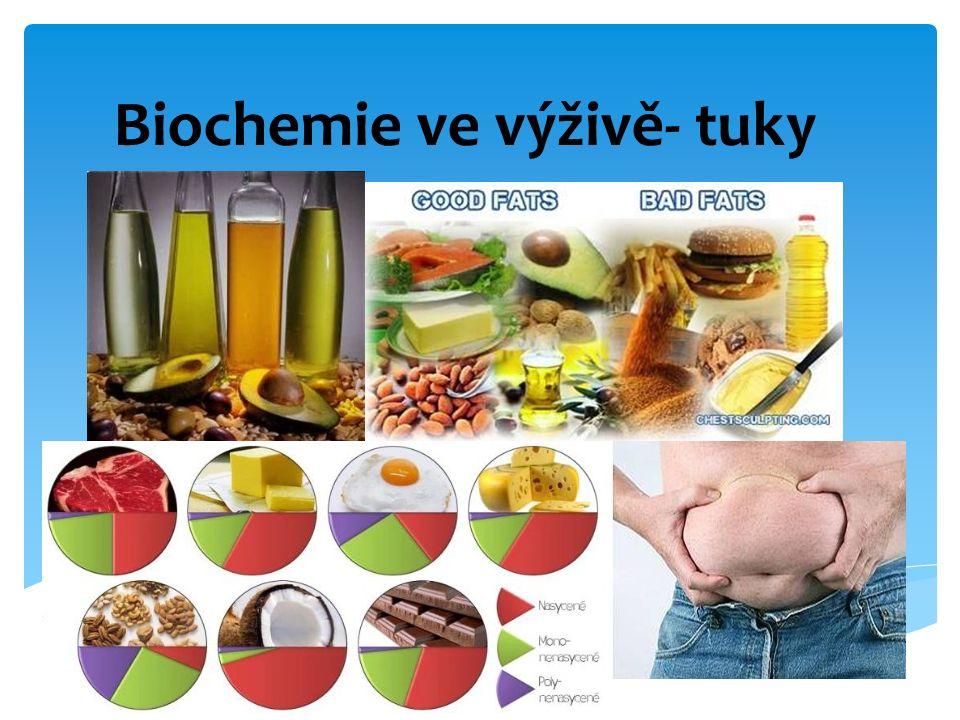 Biochemie ve výživě- tuky