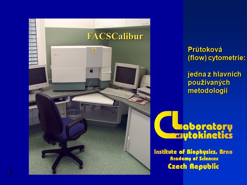 FACSCalibur 5 Průtoková (flow) cytometrie: jedna z hlavních používanýchmetodologií