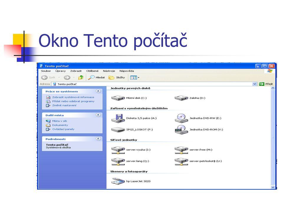 Okno Tento počítač