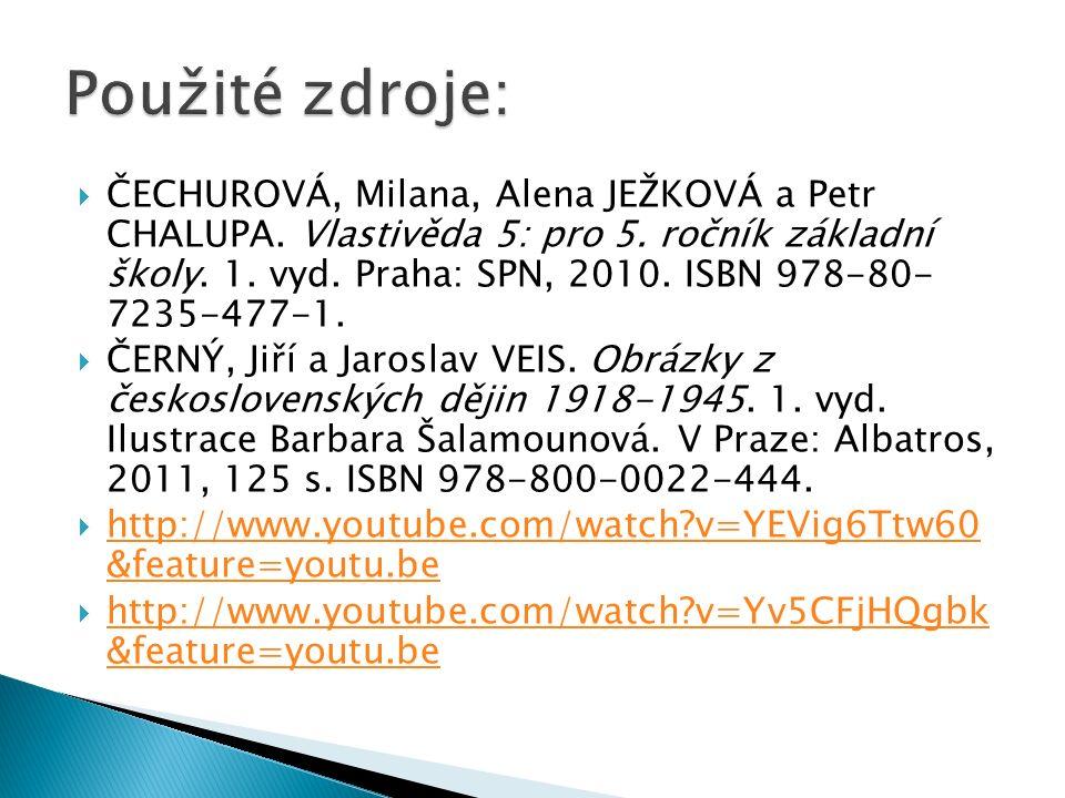  ČECHUROVÁ, Milana, Alena JEŽKOVÁ a Petr CHALUPA.