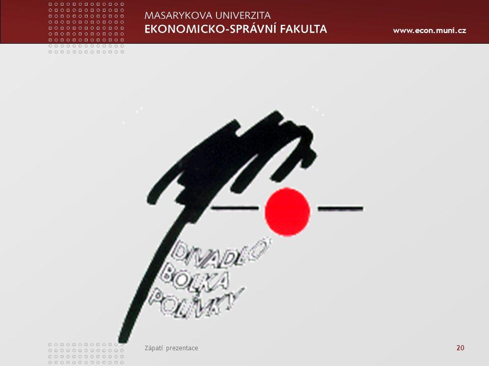 www.econ.muni.cz Zápatí prezentace 20