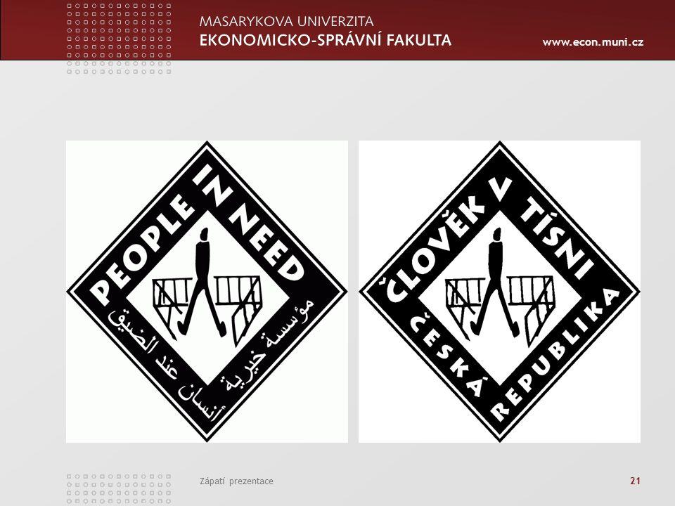 www.econ.muni.cz Zápatí prezentace 21