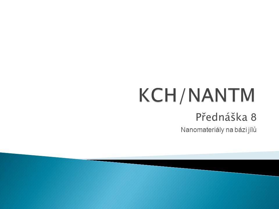 Přednáška 8 Nanomateriály na bázi jílů