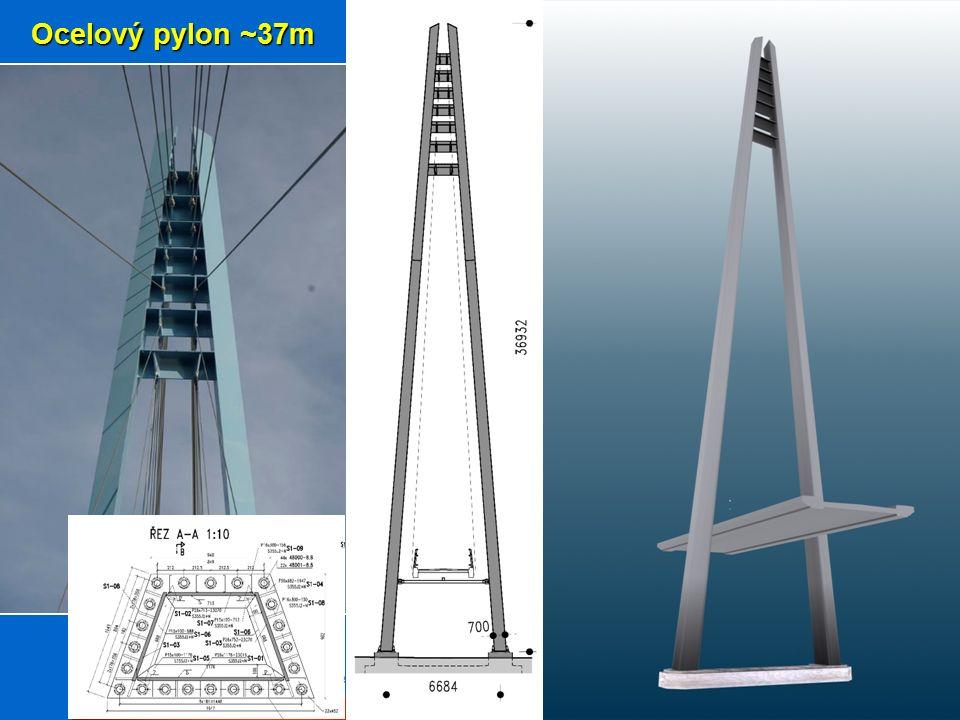 Ocelový pylon ~37m
