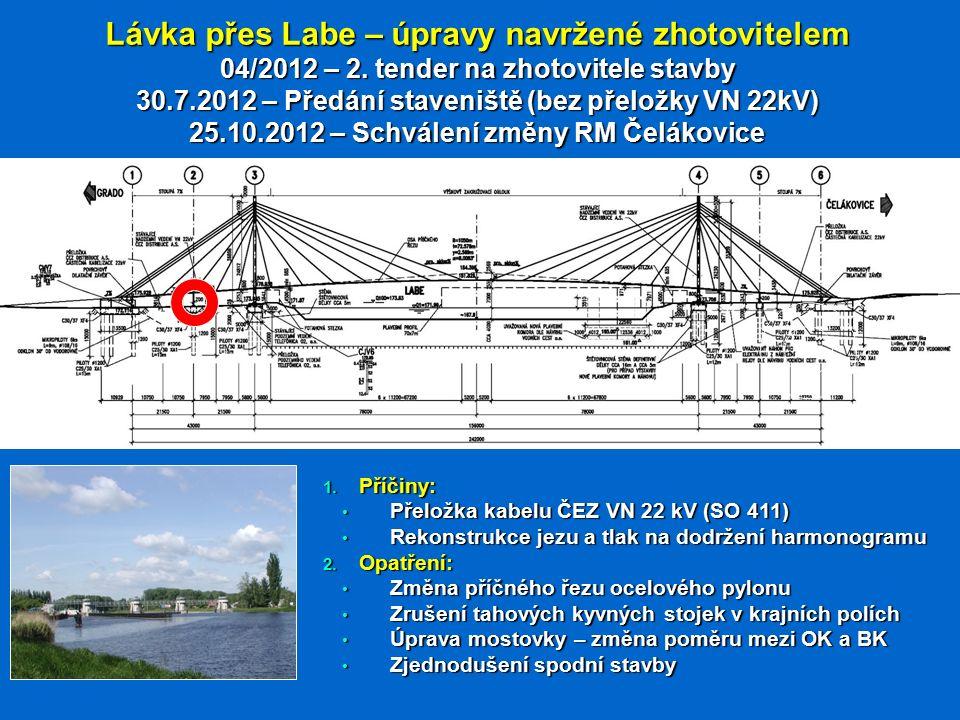 Lávka přes Labe – úpravy navržené zhotovitelem 04/2012 – 2.