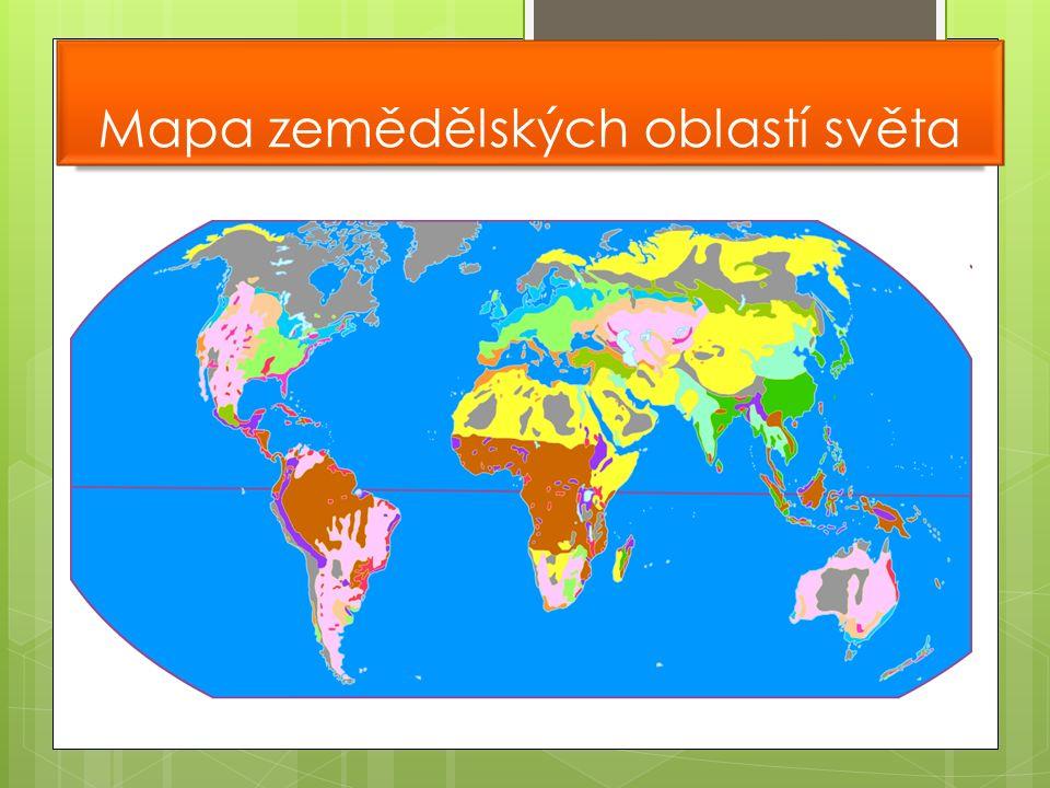 Mapa zemědělských oblastí světa