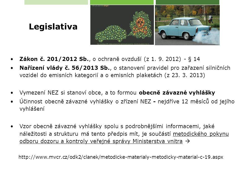 Zákon č. 201/2012 Sb., o ochraně ovzduší (z 1. 9.