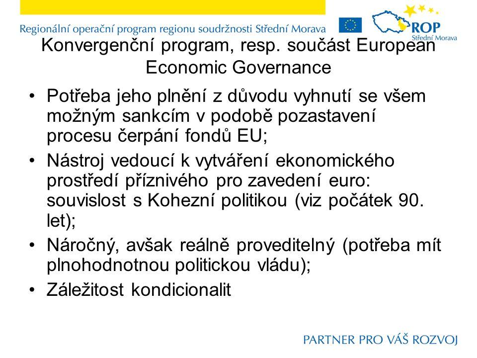 Konvergenční program, resp.