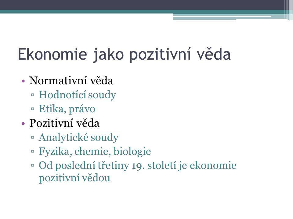 Ekonomické myšlení J.M.