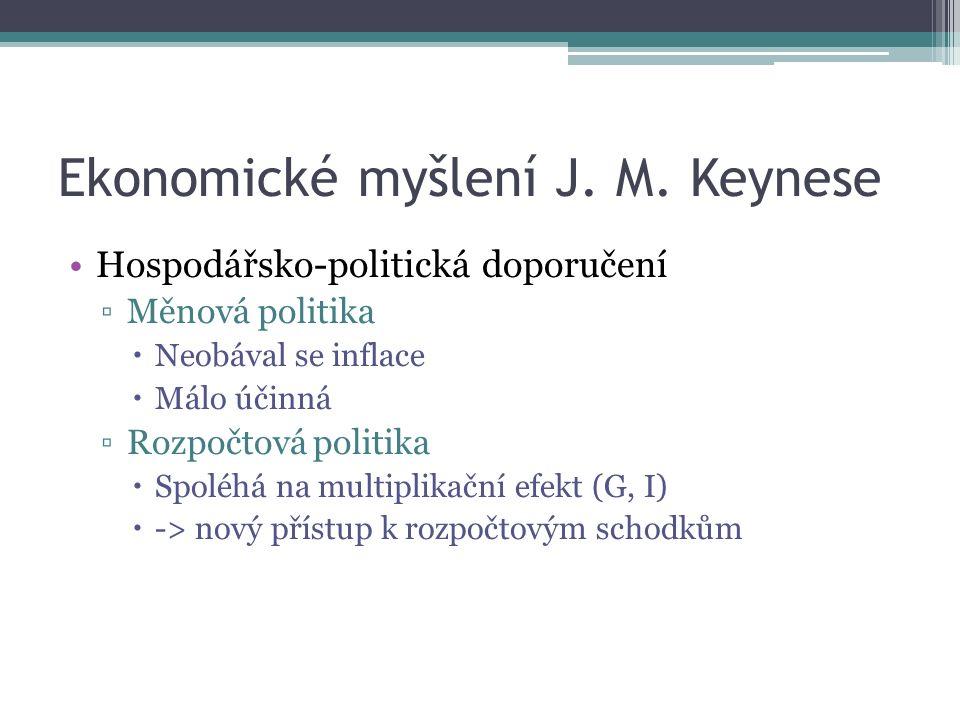 Ekonomické myšlení J. M.